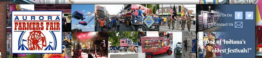 Header section of the Aurora Farmers Fair website.