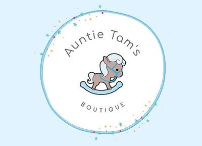 Logo for                       Auntie Tam's Boutique.