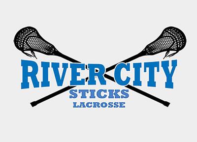 Logo for                       River City Sticks Lacrosse.